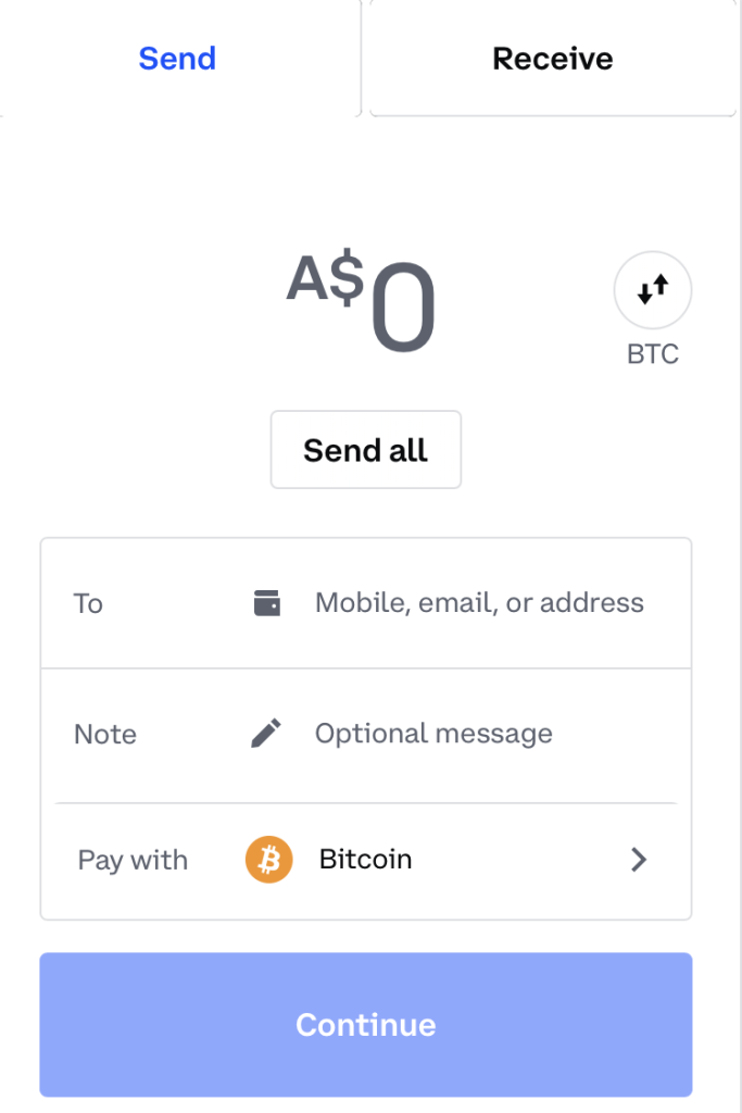 How to send crypto from Coinbase to CoinSpot